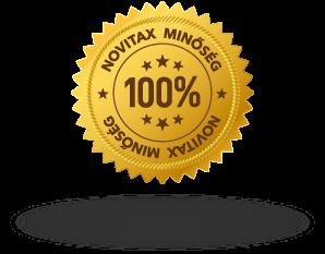 100% Novitax garancia ügyviteli programjainkra