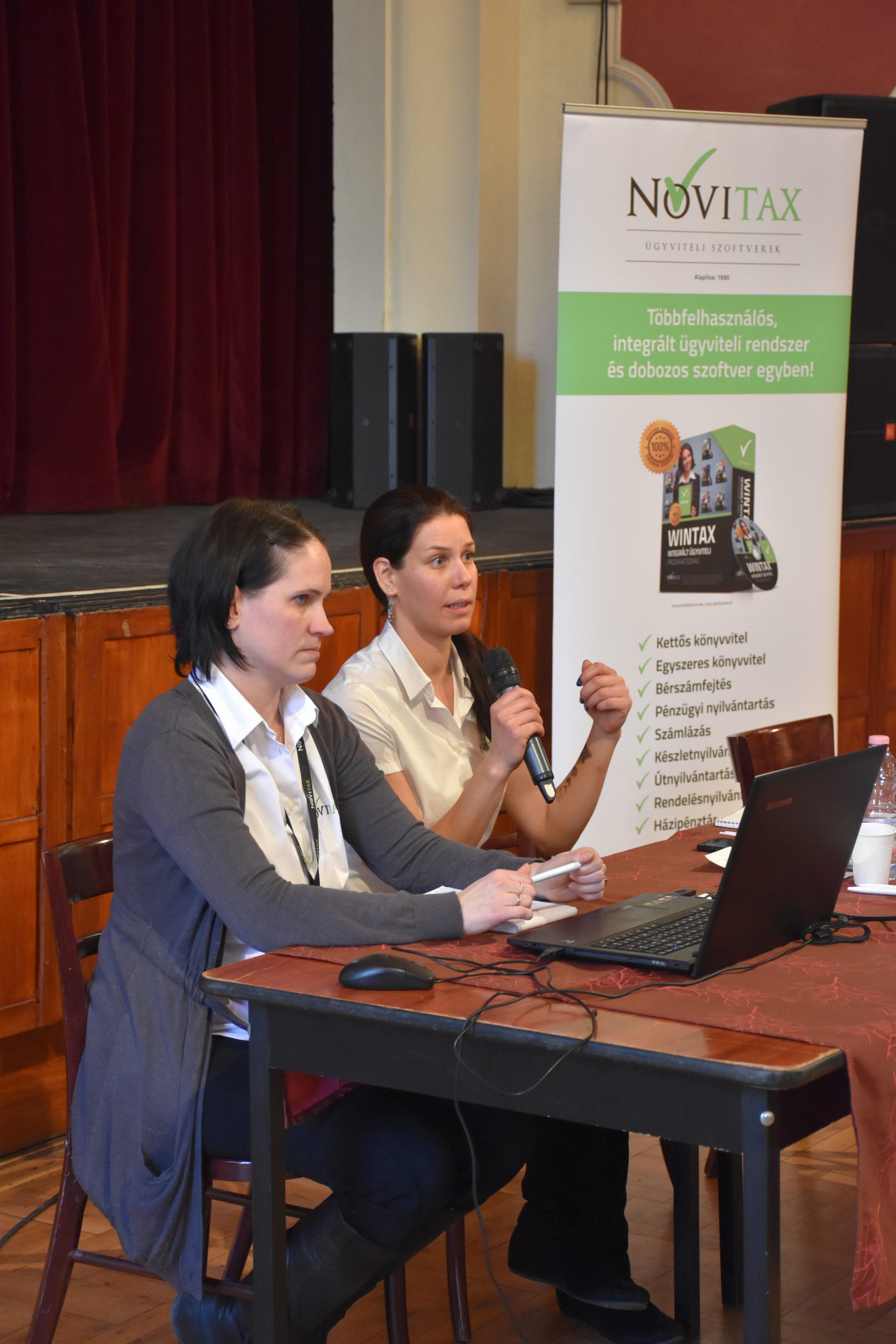 Harmat Melinda, Seres Viktória - 2017-es változások a bérszámfejtő programban a Novitax adóklub rendezvényen 2017.01.24. KÖSZI
