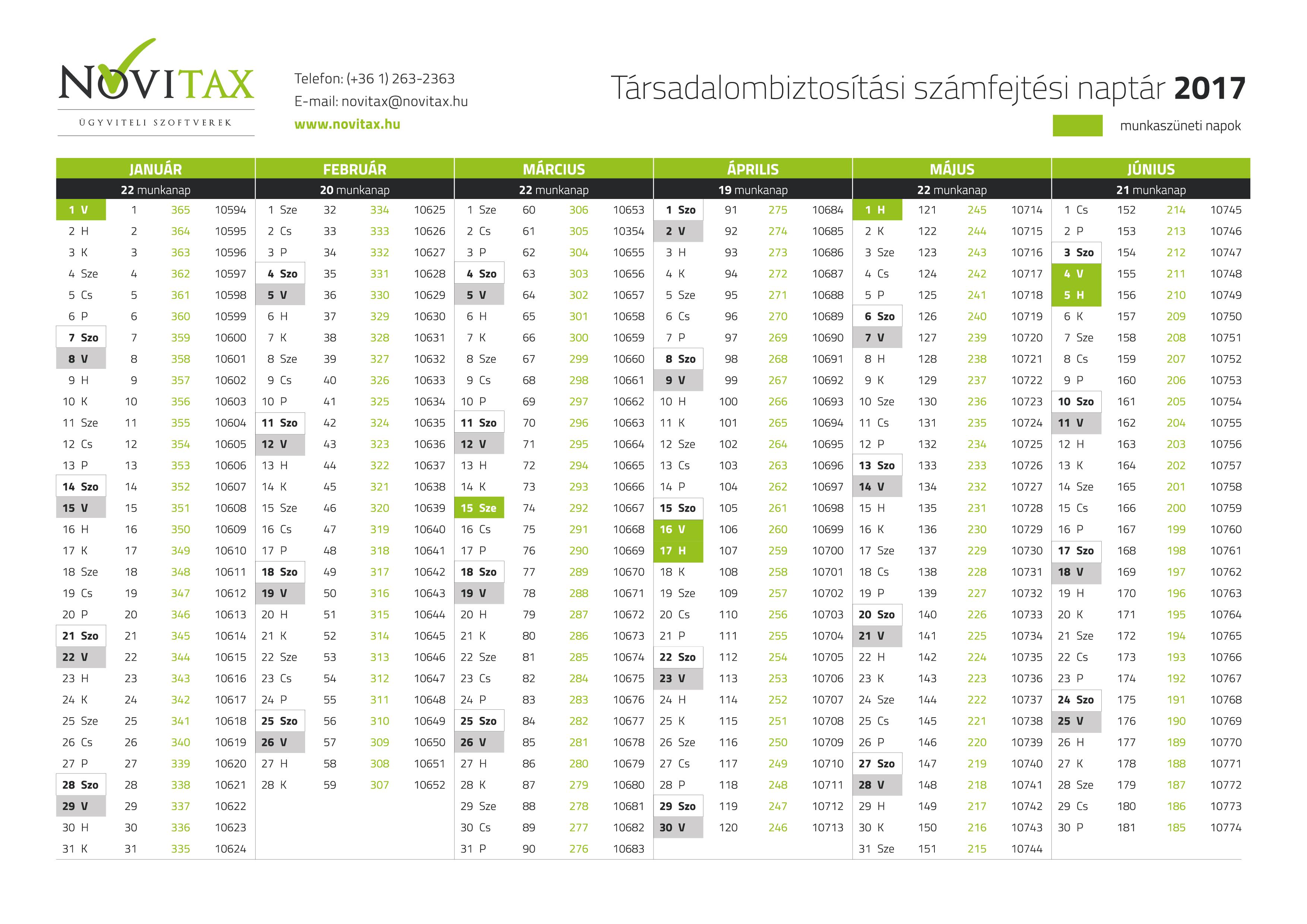 130d64a5ce Letölthető, nyomtatható 2018-as TB naptár - Novitax - Ügyviteli és könyvelő  programok