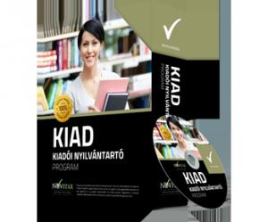 KIAD Kiadói nyilvántartó program